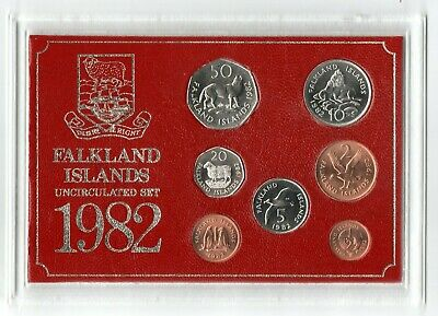 1982 Falkland Islands Uncirculated Coin Set