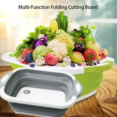 New Chopping Board Folding Drain Basket Multi-Function 2 In 1 Sink Cutting Board