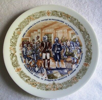 D'ARCEAU LIMOGES LAFAYETTE Legacy Collection Collectors Plate Number