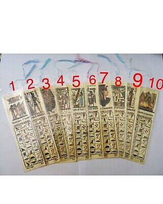 Egyptian Papyrus, 3 Book Marks Hand Painted Art USA Seller Free 3 Days Shipping