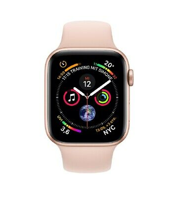 Apple Watch Series 4 44mm GPS Gold Aluminium Gehäuse mit Rosa Sand Sportarmband