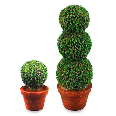 Reutter Porzellan Madera de Boj Duo Potted Topiaria Bush Set 1.434/3 Casa