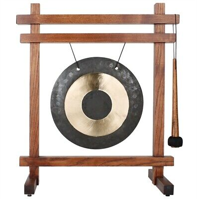 Woodstock Traditional Chinese Style Table Top Brass Meditation Gong WTG New Zen