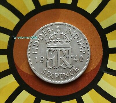 1940 King George V Lucky Sixpence 6d 50% silver. Wedding, Anniversary, Birthday.