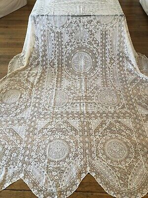 Antique Lace -Circa 1920, Elegant French Normandy Lace Bedspread