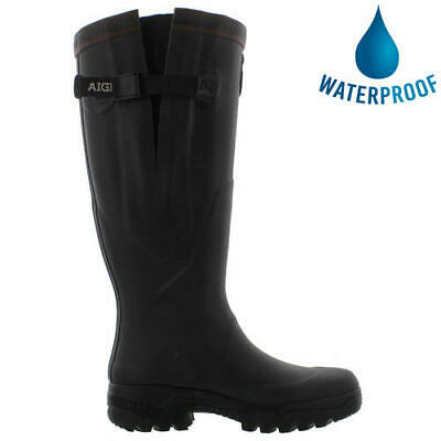 New Aigle Parcours 2 Vario Mens Womens Black Adjustable Wellies Wellington Boots