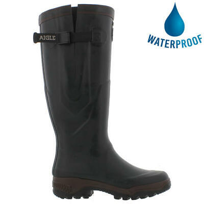 New Aigle Parcours 2 Vario Mens Womens Green Adjustable Wellies Wellington Boots