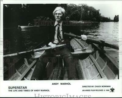 """1990 Press Photo Andy Warhol in """"Superstar: The Life and Times of Andy Warhol"""""""