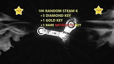 100x Random Steam Key + 5 DIAMOND Key + 1 GOLD Key + 1 METACRITIC K / up to $299