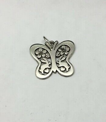 James Avery Sterling Silver Butterfly Flower Rabbit Charm Retired/Rare