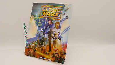 STAR WARS The Clone Wars - Lenticular 3D Flip Magnet Cover FOR bluray steelbook