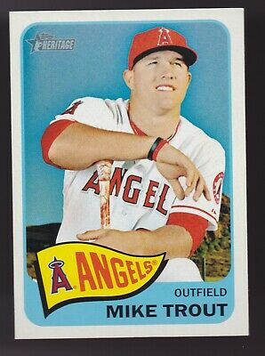 Rare Mike Trout 2014 Topps Heritage 250 Portrait Angels