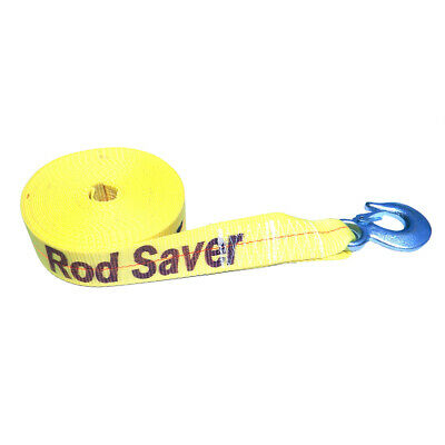 "Rod Saver WSY20 Heavy-duty Winch Strap Replacement - Yellow - 2"" X 20'"