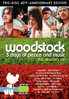 Woodstock: 3 Days of Peace & Music (DVD,1970)