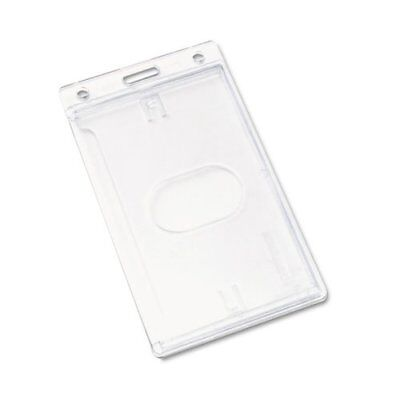 Advantus Frosted Vertical Badge Holder - Vertical - Plastic - 25 / Box - Frosted