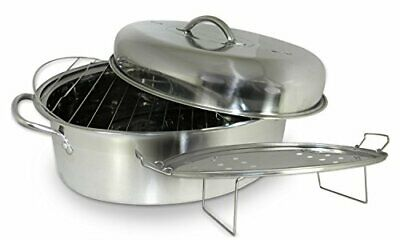 Cookpro 574 Stainless Steel 23lbs Roaster 4 Pc Stainless High