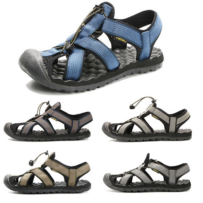 Men's Massage Sole Hiking Walking Closed Toe Sandals Outdoor Beach Shoes Slip On