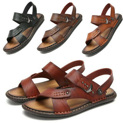 Mens Casual Sandals Breathable Open Toe Slippers Slingbacks Beach Outdoor Summer