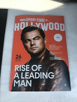 Once Upon a Time in Hollywood Magazine DiCaprio Pitt Tarantino - Rare