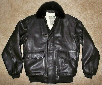 NEW LL BEAN Flying Tigers GOATSKIN Shearling A2 Bomber G 1 FLIGHT Leather JACKET