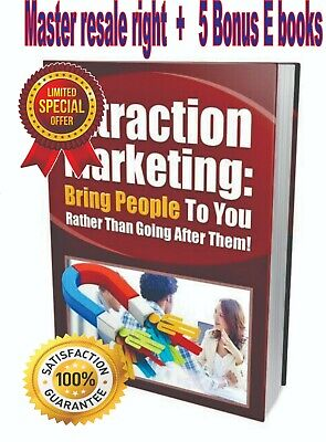 Attraction Marketing e book PDF +  Master Resale Rights DELIVERY 12hrs
