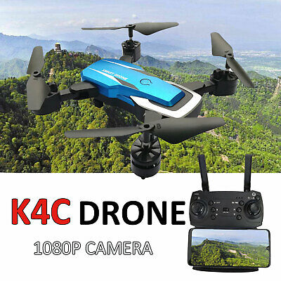 1080P HD Camera Drone Selfie WIFI FPV GPS With Foldable RC Quadcopter K4