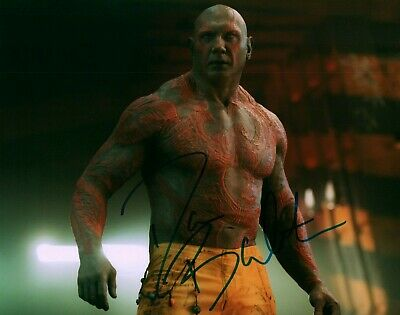 Dave Bautista Actor Guardians Of The Galaxy Signed 8x10 Autographed Photo COA 4