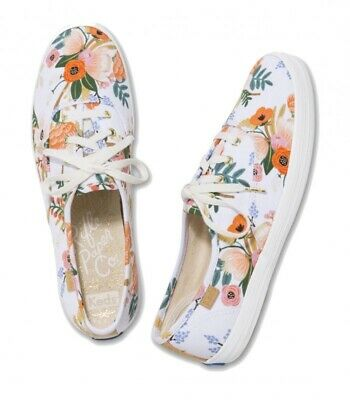 NEW Keds Rifle & Co Floral print canvas sneaker US7.5m