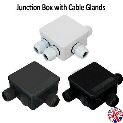 Waterproof Junction Box Cable Gland CCTV Camera LED Strip Electric Wire Outdoor