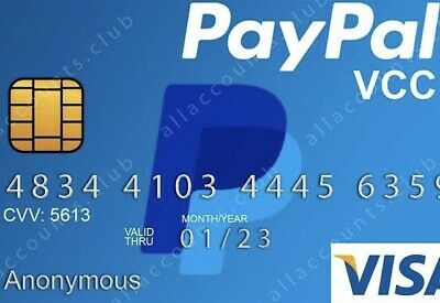 VCC for Paypal Verification Vitual Credit card-Fast Delivery(works wordwide)😎