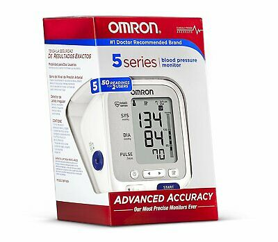 Omron 5 Series Upper Arm Blood Pressure Monitor Cuff fits Standard & Large Arms
