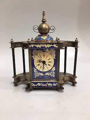 Chinese Old copper pagoda Mechanical clock table Home decoration