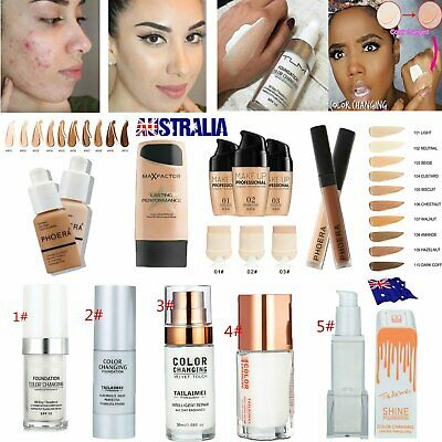 TML Color Changing PHOERA Liquid Foundation Concealer Makeup Matte Brighten IN