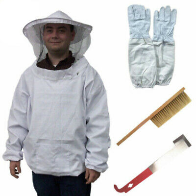 4 In 1 Beekeeping Protective Equipment Set Bee Keeping Suit Hat Gloves Tools Kit