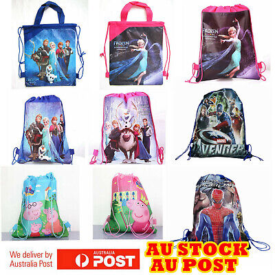 Cartoon Drawstring Bag Library Bag Girls Boys Children Kids Birthday Lolly Bags