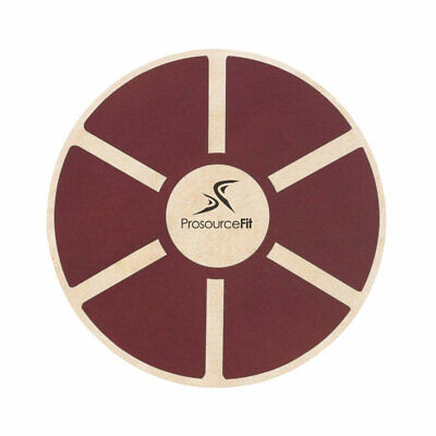 Prosource Fit 1088 Round Wooden Gym Exercise Fitness Balance Wobble Board, Red