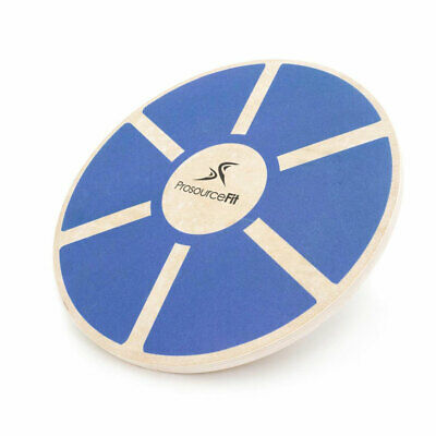 Prosource Fit 1086 Round Wooden Gym Exercise Fitness Balance Wobble Board, Blue