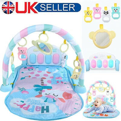 Bluetooth Baby Playmat Activity Baby Play mat Gym Toys with Music Sounds Lights