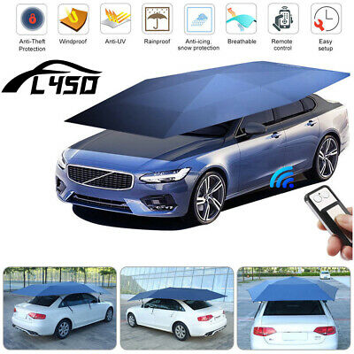 Universal Automatic Car Umbrella Tent shade Dust Cover Remote Control Waterproof