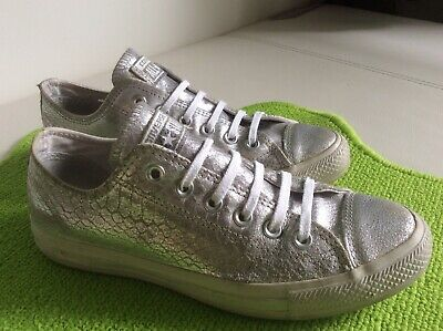 CONVERSE ALL STAR Damen Chucks,Sneaker In Gr.39,5 Silber.