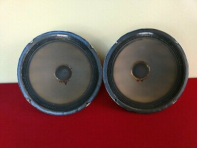 """GE 12""""  ALNICO WOOFER PAIR / CONSOLE SPEAKER PA GUITAR 4 OHM 933C690-1 / By CTS"""