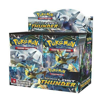 Pokemon TCG Sun & Moon Lost Thunder Booster Box - Incluye 36 Booster Packs