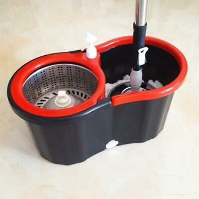 360 Floor Magic Spin Mop Bucket Set Microfiber Rotating Dry Head With 2 Heads Sp