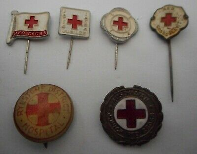 RED CROSS 6 various badges