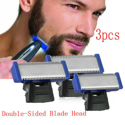3X Double-Sided Replacement Shaver Blade Head Fit MicroTouch Solo Electric Razor