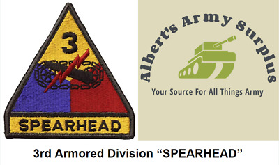 US ARMY 3RD Armored Division Patch With Tab -Full Color - $4 50