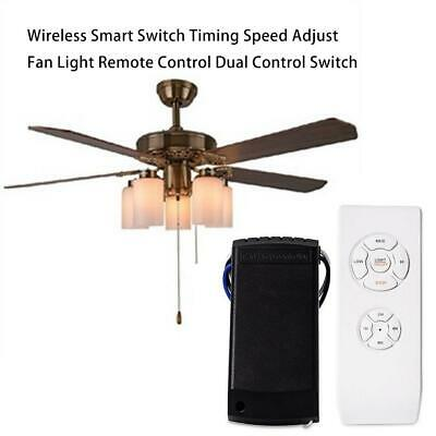 Wireless Remote Dual Control Kit Speed Adjustment For Most Ceiling Fan Lamp