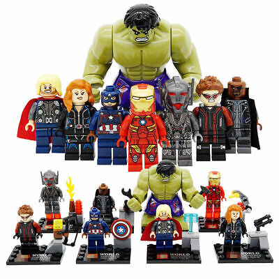8pcs Set Marvel The Avengers Super Heroes Minifigures Custom MiniFigs