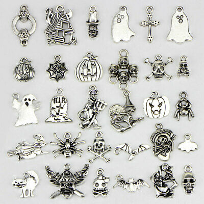 OHM OM Tibetan Silver Bead charms Pendants fit bracelet 40pcs 16x12mm