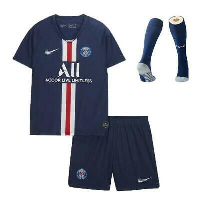 19-20 Football Kits MBAPPE 7 Soccer Suits Kids Adults Jersey Strip Sports Outfit